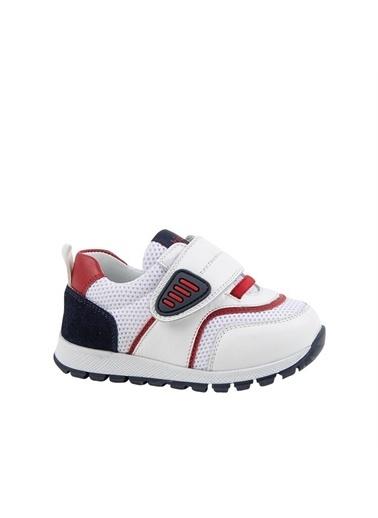 Kids A More Prue Tek Cırtlı Deri Ve Air File Detaylı Erkek Bebek Sneaker  Beyaz